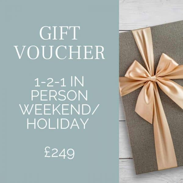 Gift Voucher for beginners photography course Orpington in person weekend / holiday
