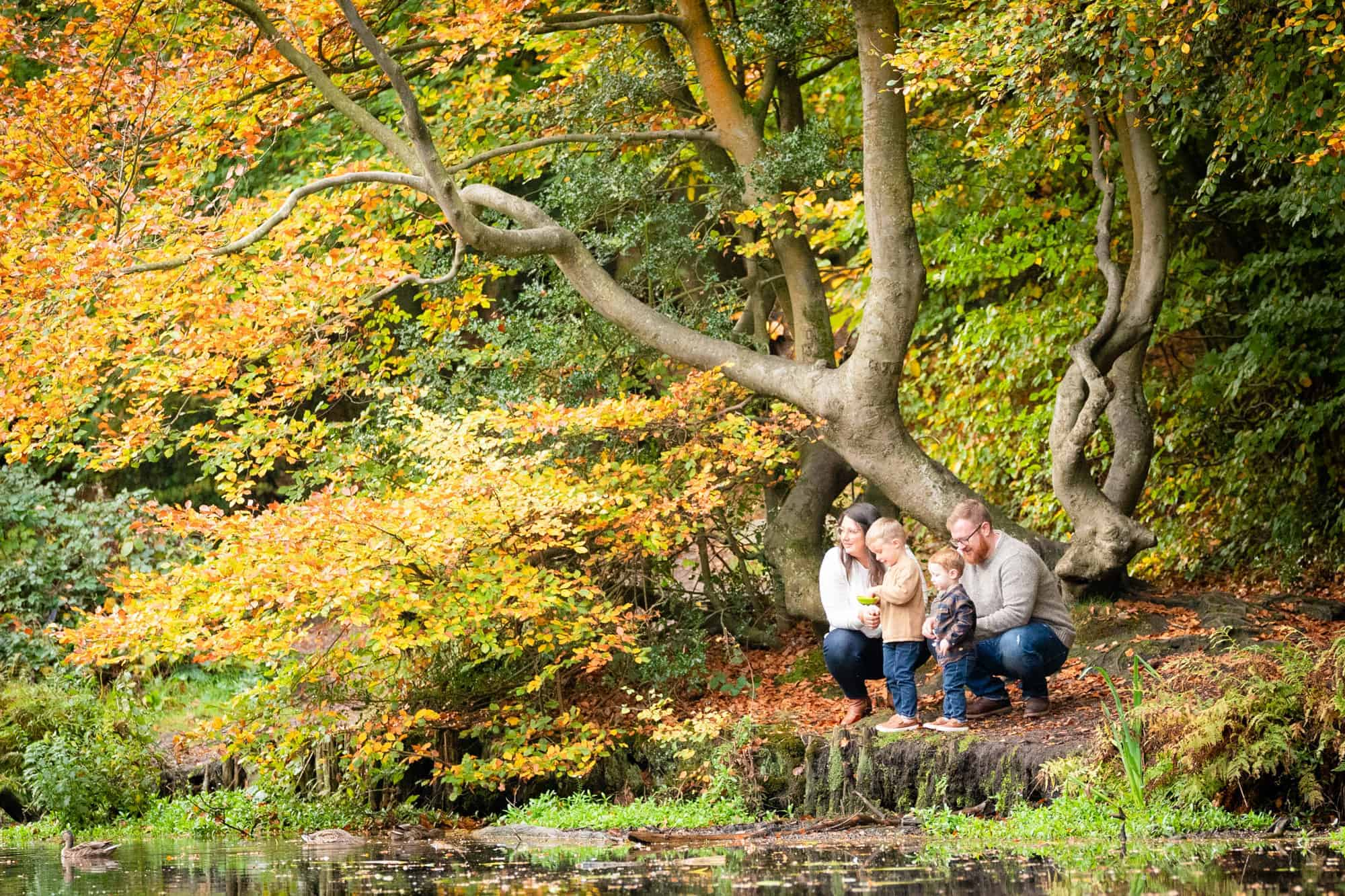 Bromley family photographer autumn shoots