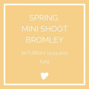 Spring mini shoot Bromley Saturday 17th April Easter hols